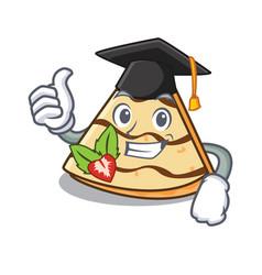 Graduation crepe character cartoon style vector