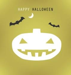 halloween green pumpkin vector image