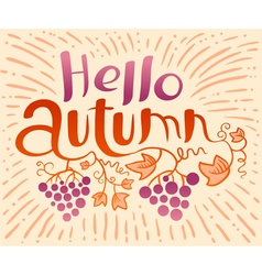 Hello Autumn lettering vector image