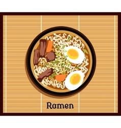 Japanese Ramen Concept vector