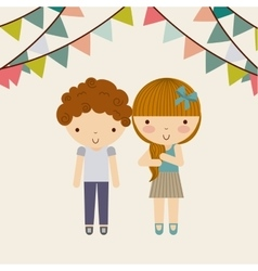 little kids in celebration party vector image