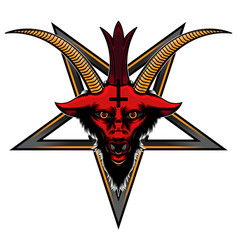 Logo baphomet head vector