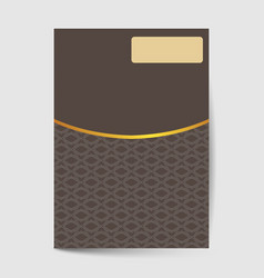 Luxury premium cover page design for flyer book vector