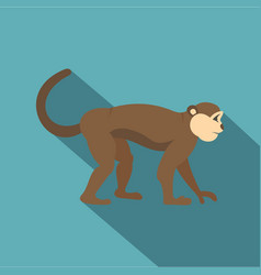 Macaque monkey icon flat style vector