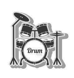 Music instrument icon vector
