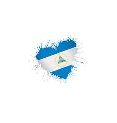 Nicaragua flag on a white vector