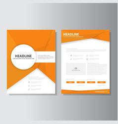 Orange brochure flyer leaflet booklet cover vector