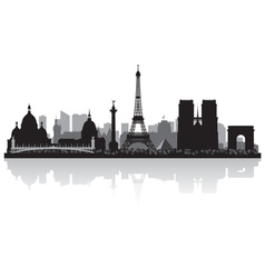 Paris france city skyline silhouette vector