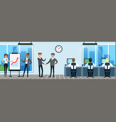 people working in office workers sitting at vector image