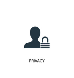 Privacy icon simple element privacy vector