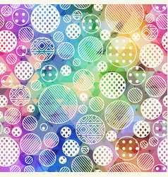 rainbow color circle pattern vector image