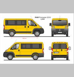 Ram promaster passenger van l1h1 2018 vector