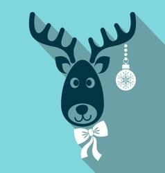 Reindeer face vector image