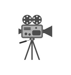 retro movie projector icon vector image