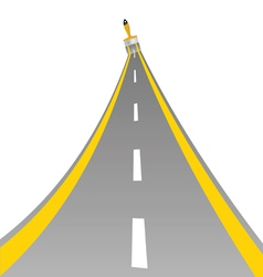 road with paint brush art vector image