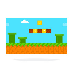 Screenshot a retro computer game icon vector