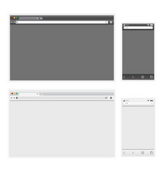 set of dark and light browser interface on laptop vector image