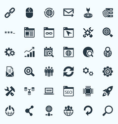 Set of simple optimization icons elements date vector
