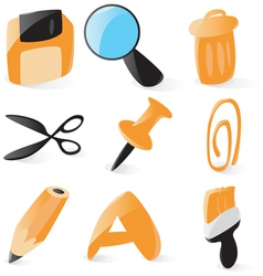 Smooth file operations icons vector image