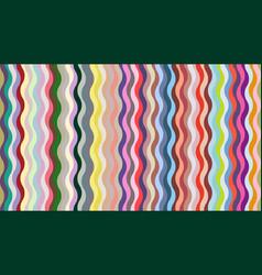 stylish geometric wavy background vector image
