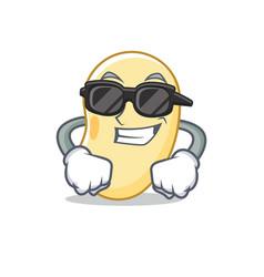 Super cool soy bean character cartoon vector