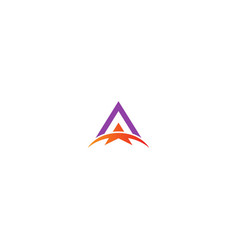triangle arrow abstract business logo vector image