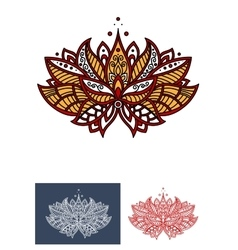 Turkish flower with paisley ornament vector