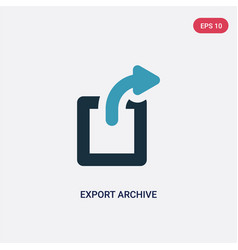 Two color export archive icon from user interface vector