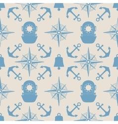 Vintage nautical seamless pattern vector image