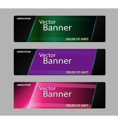 Website header or banner set vector