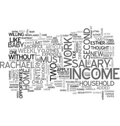 When a two salary income fails text word cloud vector
