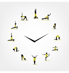 Yoga time watch concept for your design vector