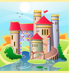 A cute castles vector