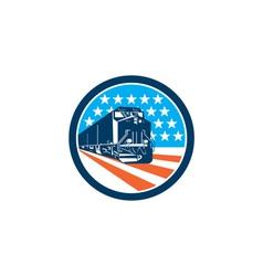 Diesel Train American Stars Stripes Retro vector image vector image