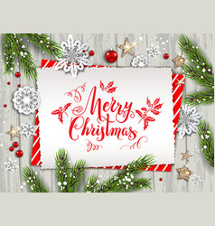 holiday nature card christmas vector image vector image
