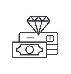 premium finance service concept thin line vector image vector image