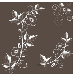retro floral background with flowers vector image vector image