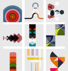 set of blank minimal geometrical templates vector image