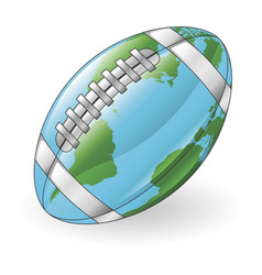 world globe football ball concept vector image