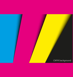 abstract background sheets of paper in cmyk vector image