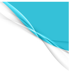 blue abstract transparent wave layout vector image