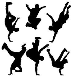 Break dancers vector