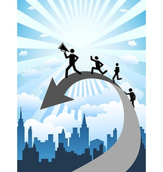 business success vector image vector image