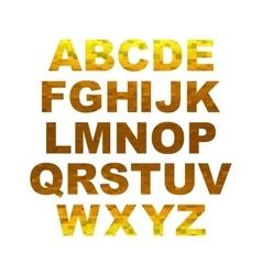 Design elements - gold 3D font Set vector image
