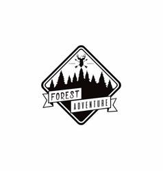 forest mountain adventure deer hunter logo vector image