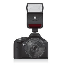 photo camera with flash vector image