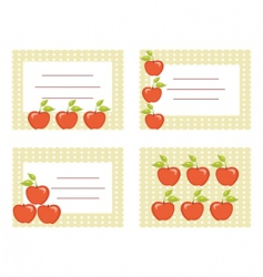 apple cards vector image vector image
