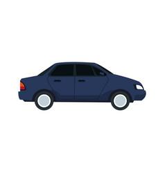 city car sedan automobile transport motor side vector image
