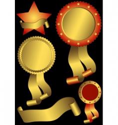 set metallic awards vector image