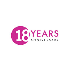 18 years logo vector image